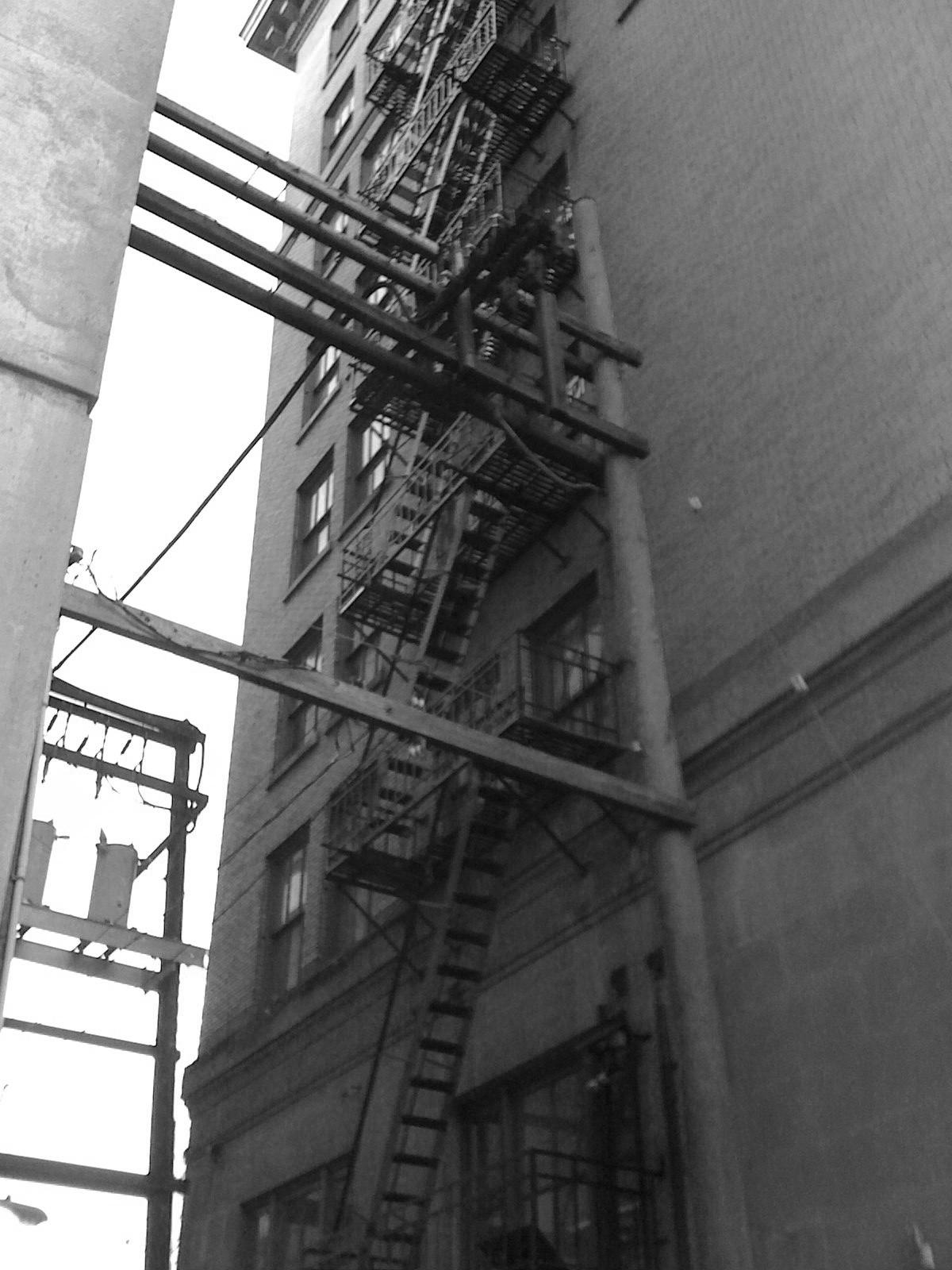Vancouver alleyway – flight of stairs